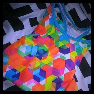 A rainbow  shirt